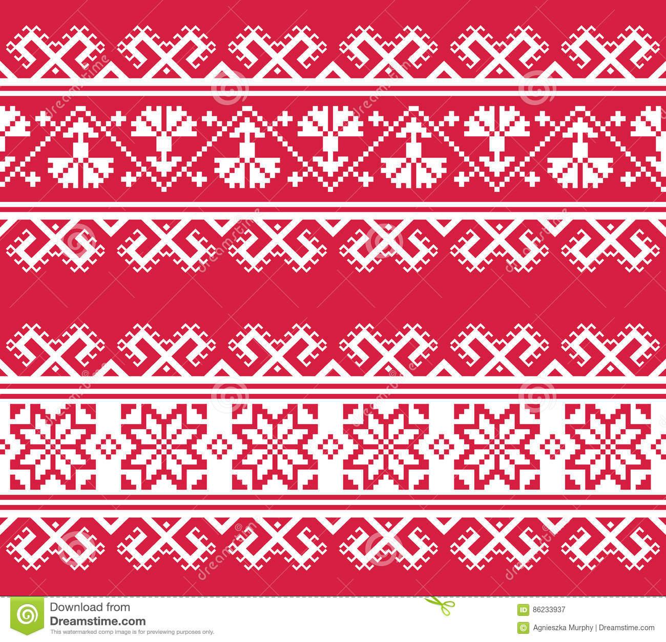 ukrainian-belarusian-folk-art-embroidery-pattern-red-white-slavic-traditional-design-ukraine-belarus-86233937